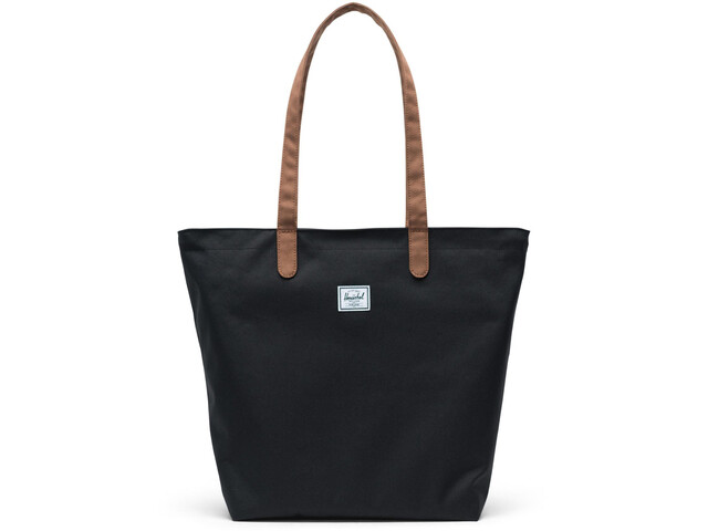 Herschel Mica Tote black/saddle brown